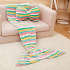 New Style Soft Mermaid Tail Blanket Adult Child Throw Bed Wrap Sleeping Bag