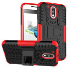 Dual Layer Shockproof Cover Hybrid Case w/ Kickstand for Motorola Moto G4 Play