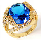 Fashion Size 8,9,10,11,12 Party Yellow Gold Plated Men's Wedding Engagement Ring