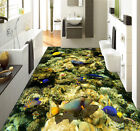3D Colorful Coral Reef Fish Floor Mural Photo Flooring Wallpaper Home Wall Decal