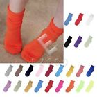 Candy Color Unisex Women Fluorescent Natural Curling Cotton Blend Socks