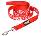 Service Dog Lead Leash Heavy Duty Padded Handle Double Layered Blue Green Red