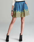 MARC by MARC JACOBS Paradox Print Pleated Silk Mini Skirt in Rich Royal NWT $278