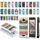 For Coolpad Catalyst 3622A Anti Shock Studded Bling HYBRID Case Phone Cover +Pen