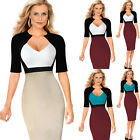 NEW LADIES CELEB WOMENS SHORT SLEEVE BUSINESS EVNING BODYCON MIDI PENCIL DRESS