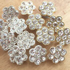 per button gold or silver coloured diamante cluster buttons beautiful 16mm diam