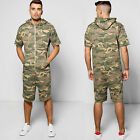 MENS CAMO ALL IN ONE SHORT SLEEVE SHORTS ONESIE MENS CAMOFLAGE JUMPSUIT