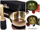 Brass Singing Bowl with Cushion and Stick Gift Set Tibet Buddhist Meditation D01