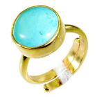 Turquoise Copper Ring L-1in beauty Turquoise india  AU K,M,O,Q