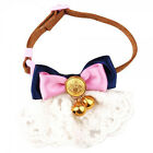 Jingle Bells Pink Lace Adjustable Pet Cat Dog Puppy Strap Collar Scarf Gift XS S