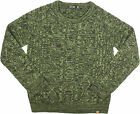 Obey Freja Cable Crew Sweater Forest Multi
