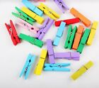 Внешний вид - 10/50× 30mm Color Mini Wooden Clothes Peg Pin Photo Paper Clips Clothespin Craft