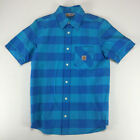 Carhartt New Short Sleeve Tony Check Shirt Blue size S