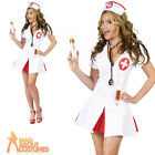 Adult Say Ahhh Nurse Costume Sexy Ladies Doctor A and E Fancy Dress Outfit New