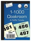 Cloakroom Tickets Raffle Tombola Draw Tickets Numbered 1 - 1000 Bingo Games