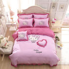 Kids Hello Kitty Bedding Duvet Quilt Cover Bedding Set Twin Full Queen Size Pink