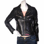 New Celebrity Leather Jackets Biker Style Soft Lambskin Material Women EHS W- 14