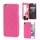 New Built-in Cosmetic Mirror Flip Wallet Phone Case Cover For iPhone 6 6s Plus