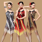 D946 Belly Dance Costume Latin salsa tango Cha Cha Ballroom Flamenco Dress M/L