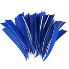 """50PCS 4"""" Shield Turkey Feathers Fletching Carbon Wood Bamboo Arrows"""