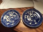2 Blue Willow saucer only Japan stamp