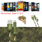0.25-1.5M 2A Micro USB&Type-C 3.1 Fast Data Sync Charger Cable For Samsung Lot
