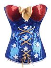 Wonder Woman Comic Book Heroine Costume  Blue Corset Bustier Size S-6XL CM A2366
