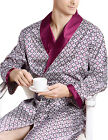 New Mens Silk Satin Robe Robes Bathrobe Nightgown Pajamas L~XL Plus Luxury Gifts