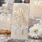 Gold Wedding Invitation Cards Personalized Laser Cut Castle,CW5093 Kit, Stickers