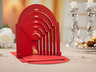 Wedding Invitation Card Personalized Red 3D Church Unique Design Free Envelopes