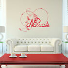 Namaste Feathers Vinyl Wall Decal Quote - fits interior home decor