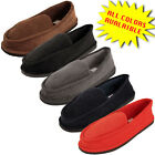 Внешний вид - Mens Slippers House Shoes Corduroy Color Slip On Moccasin Comfort Indoor Outdoor