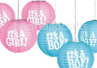 3 Baby Shower Chinese Lanterns Party Decorations Girl Boy Supplies Decor