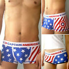Chic Captain America Print Pure Cotton Lovers Underwear Summer Panties sexy L XL
