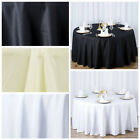 "6 pcs 120"" Round Premium Polyester Tablecloths Wedding Party Table Linens SALE"