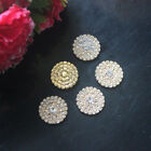 DIA 23mm Golden Round Crystal Rhinestone Buttons Flatback Crystal Embellishments