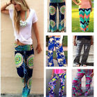 Womens Floral Casual Wide Leg Long Stretch Pants Bohemian Loose Palazzo Trouser-