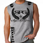 Stryker Sleeveless Muscle Tank Top T Shirt tee Top MMA UFC W FREE Tapout Sticker