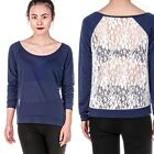 Fashion Women Long Sleeve Shirt Casual Lace hollow Blouse Loose Cotton Tops