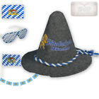 Girlande Oktoberfest Bayern Party Fahne Brille Flagge Trachten Hut Set