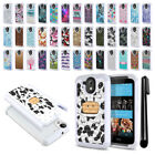 For HTC Desire 526 Anti Shock Studded Bling HYBRID Case Phone Cover + Pen