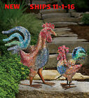 MOSAIC DECOR ROOSTER STATUARIES HAND APPLYED MOSAIC GLASS...