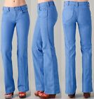 NWT $225 Tory Burch Flare Jeans Dyed Denim in Blue Size 31