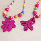 Stylish Joker Girl Bead Necklace Candy Color Necklacs Child Vintage Accessories