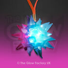 Flashing Spikey Jelly Star Necklace LED Light Up Glow