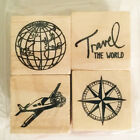 "Recollections Rubber Stamp Set 1"" Wood Mounted Mini Planner"