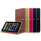 """Folio Magnetic Leather Cover Case For Amazon Kindle Fire 7"""" 5th 7th 8th 2019 Gen"""