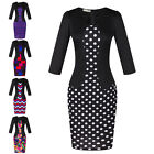 Elegant Womens Work Bodycon Formal Business Party Evening Cocktail Pencil Dress