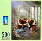 NEW 500 PIECE JIGSAW PUZZLE CUTE AND COZY DOGS PUPPIES FACTORY SEALED MINT COND