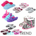 Girls Winter Slippers Shoes 10 11 12 13 1 2 Size Faux Fur Novelty Slipper Mules